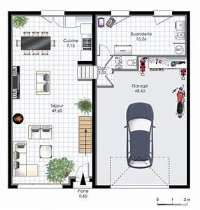 vaste demeure 2 detail du plan de vaste demeure 2 With plan maison demi niveau 7 plan maison 4 chambres maison moderne