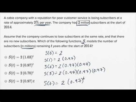 quadratic and exponential word problems basic exle video khan academy