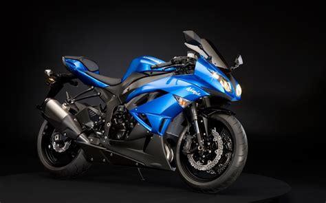 Kawasaki Ninja Zx-6r Moto, Bleu Et Noir Hd Fonds D'écran