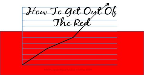 How To Get Out Of The Red  How To Get Organized At Home