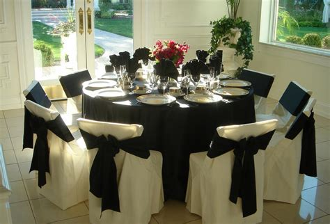 black satin table linen from chair covers by sylwia in