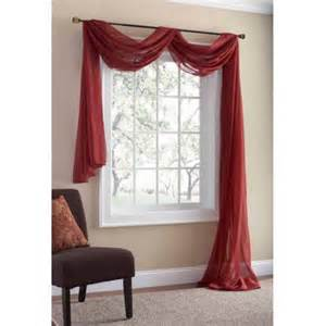 mainstays marjorie sheer voile curtain scarf 59x216
