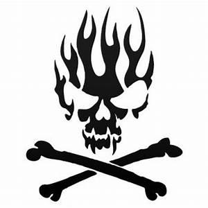Skull And Bones Stencil - ClipArt Best