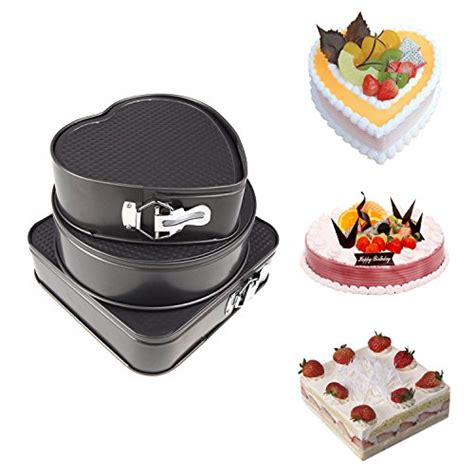 cake pans shaped pan cheesecake heart springform molds round square sam non stick baking leakproof yummy anchor bakeware forms