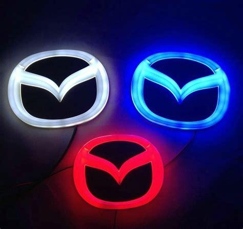 mazda 3 logo 4d mazda blue neon logo