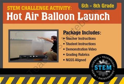 Stem Activity Challenge Hot Air Balloons 6th 8th Grade