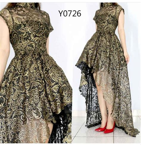jual dress pesta brukat silver gold hitam krem gaun
