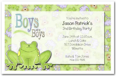 Green Frog Party Invitations Frog Birthday Invitations