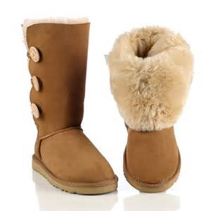 ugg sle sale york ugg 1873 bailey button triplet chestnut boots on sale on imgfave