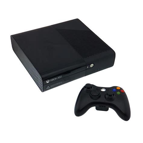 xbox 360 console 4gb xbox 360 e 4gb black console pre owned the gamesmen