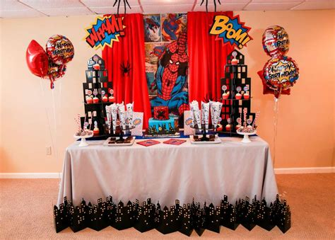 amazing spider man birthday party ideas photo