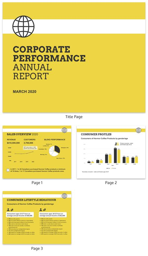 Annual Report Template 50 Customizable Annual Report Design Templates Exles
