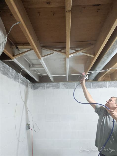 paint  unfinished basement ceiling    images basement makeover