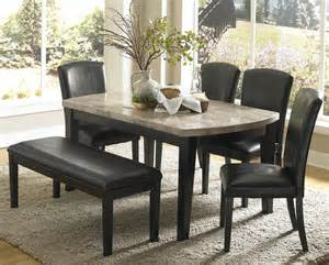 marble dining room sets homelegance cristo 5 marble top dining room set in black contemporary dining sets by