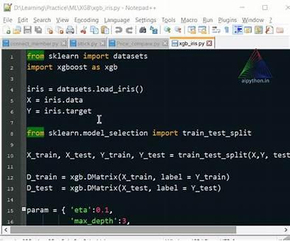 Notepad Python Highlight Script Executing