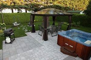 pinterest o le catalogue d39idees With amenagement paysager avec piscine creusee 11 amenagement spa jardin recherche google terrasse