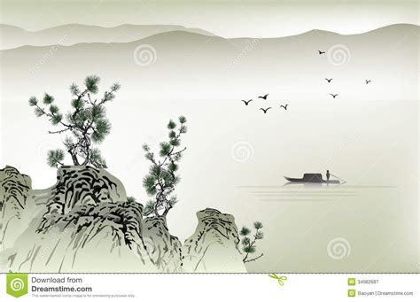 chinese painting royalty  stock photography image