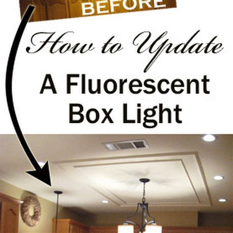 removing  fluorescent kitchen light box   diy