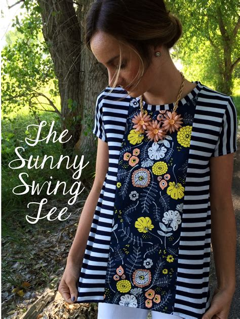 The Sunny Swing Tee Sewing Tutorial + Free Pattern The