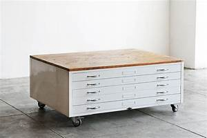 Flat file coffee table in gloss white with reclaimed wood for Best brand of paint for kitchen cabinets with california wood wall art