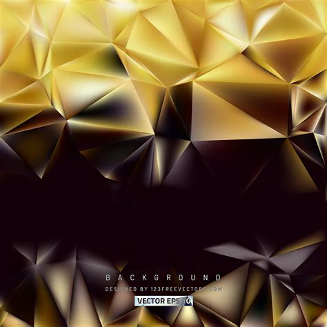 Abstract Black Golden by Abstract Black Gold Polygon Background Template
