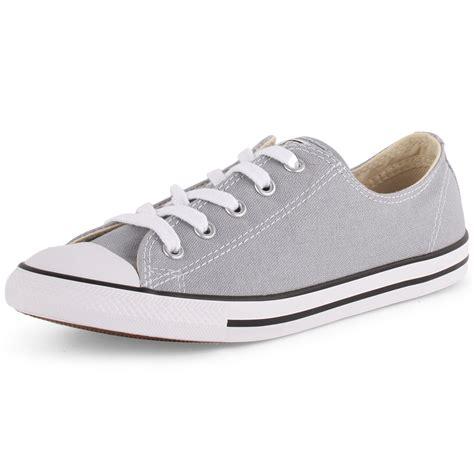 light grey converse converse chuck dainty ox womens light grey trainers