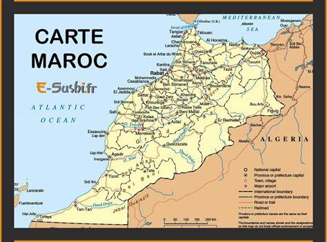 Carte Maroc Avec Villes by Carte Du Maroc Images Arts Et Voyages