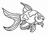 Goldfish Coloring Pages Printable sketch template