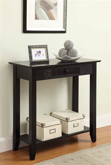 Foyer Shelves by Entryway Table W Drawer Shelf Small Foyer