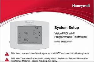 Honeywell Th8320wf User Manual
