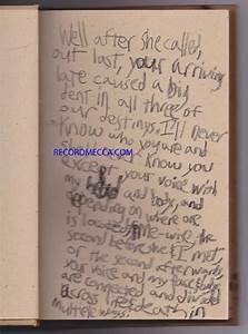 Red Hot Chili Peppers John Frusciante Handwritten