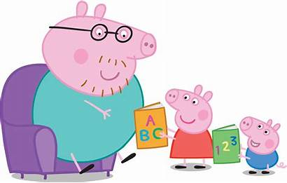 Reading Daddy Pig Peppa Clipart Tips Children