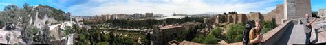 Panoramic view from Malaga castle - Southern Spain on way ...