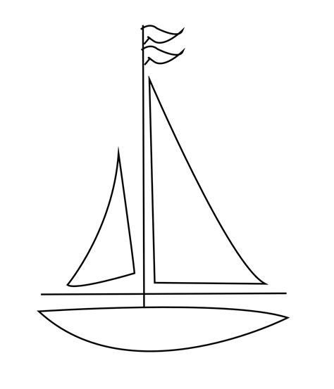 Boat Drawing Lines by Boat Clipart Line Drawing Pencil And In Color Boat