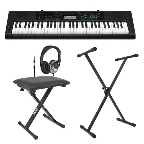 keyboard stand and bench casio ctk 3400 portable keyboard with bench headphones