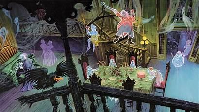 Haunted Mansion Disney Disneyland Ballroom Halloween Desktop