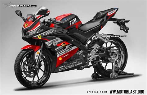 modifikasi striping yamaha r15 v3 black black motoblast