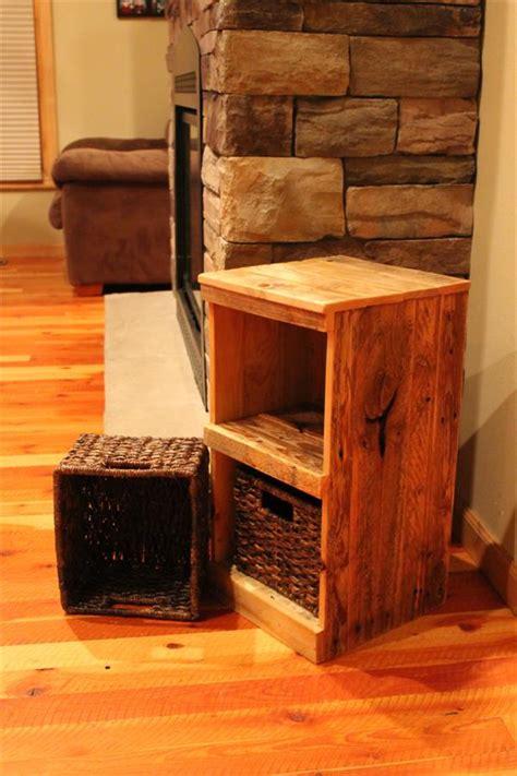 diy pallet rustic storage bins nightstand wooden