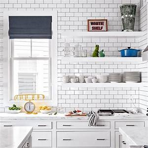 1001 idees pour amenager une cuisine campagne chic charmante With kitchen colors with white cabinets with papier adhesif deco