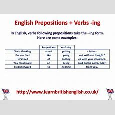 English Prepositions + Verbs Ing (visual Lesson) » Learn British English