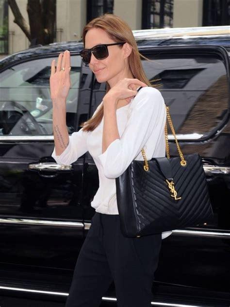 celebrities carrying saint laurent bags
