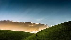 Nature, Landscape, Clouds, Hills, Grass, Sun, Rays, Fence