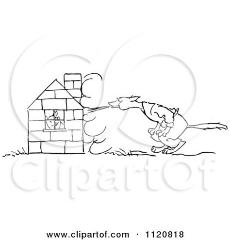 Royalty Free (RF) Blow Your House Down Clipart
