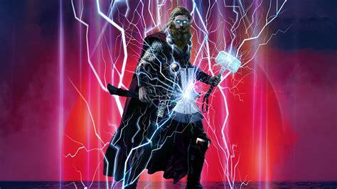 wallpaper thor stormbreaker mjolnir avengers endgame