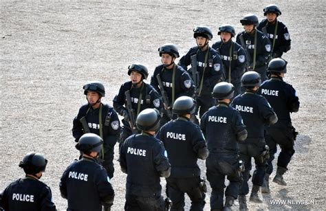Riot Police Hone Skills Before Heading For Peacekeeping