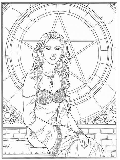 Adult Coloring - Goddess Coloring | Coloring pages, Fairy