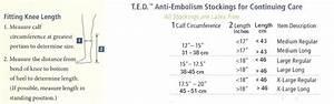 T E D Anti Embolism Hospital Socks