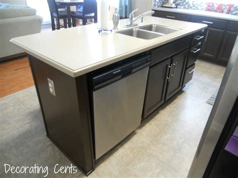 kitchen island with sink and dishwasher and share