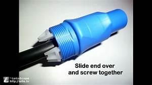 How To Assemble A Neutrik Powercon Input Cable Connector