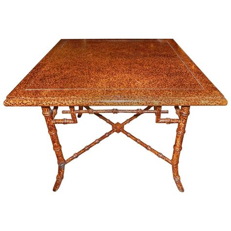 faux bamboo table l outstanding faux finished tortoise shell and bamboo table